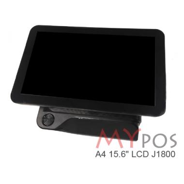"Сенсорный POS-компьютер моноблок MYPOS A4  J1800, 15.6"" LCD, RAM 4GB, SSD 120GB, 6 USB, 2 RS232, VGA, HDMI"