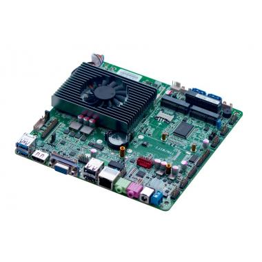 Материнская плата MINITOSTAR Mini-ITX-H45-912E Intel i5-4300u, кабельный комплект SATA, DATA, COM