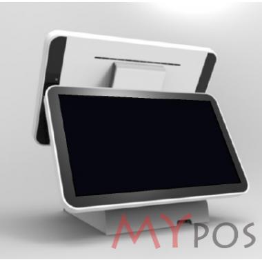 "Сенсорный POS-компьютер моноблок myPOS i7 J1800, 15,6"", RAM 4Gb, SSD 120Gb, 5 USB, 2 RS232, VGA, HDMI"