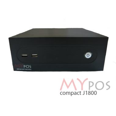 myPOS compact  J1800, RAM 2Gb, SSD 60GB, 8 USB, 2 COM, PS/2, LPT, без ОС