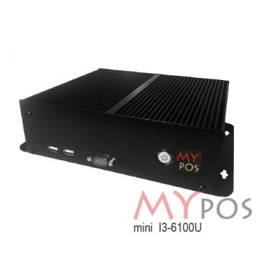 myPOS mini 3 I3-6100U, RAM 2Gb, SSD 120GB, 10 USB (6 USB2.0, 4 USB 3.0), 6 COM, 1 LAN, VGA, HDMI, Mini-PCIe, без ОС