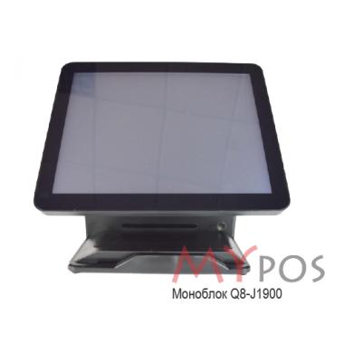 "Сенсорный POS-компьютер моноблок myPOS Q8  15.6"" LCD, J1900, RAM 4Gb, SSD 120Gb, MSR, 6 USB, 2 RS232, VGA, HDMI, без ОС"