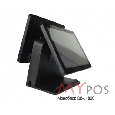 "Сенсорный POS-компьютер моноблок myPOS Q8  J1800, 15.6"" LCD, RAM 4Gb, SSD 120Gb, 6 USB, 2 RS232, VGA"